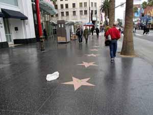 ハリウッドスターの手形